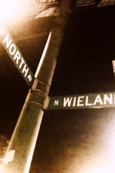 North and Wieland Street Signs